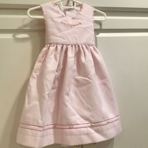 Luli & Me girls' pink summer dress 18 months EUC